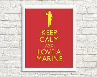 Marine Girlfriend, Marine Wife, Marine Gift, Military Printable, Military Gift, Deployment Gift, Military Love, Marine Corps, Printable