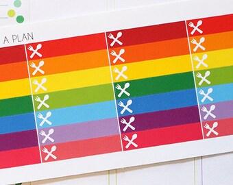 Planner Stickers Food/Utensils Mini Box Little Things Label for Erin Condren, Happy Planner, Filofax, Scrapbooking