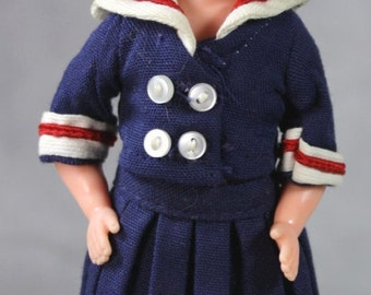 "Vintage Penny Brite Doll In Original Outfit""Anchors Away"" 1963"