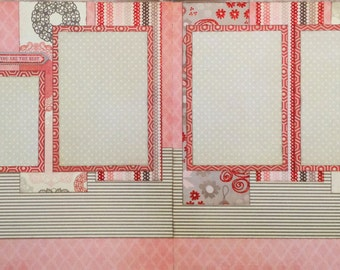 You Are the Best - Pre-cut 2-page 12x12 scrapbook page kit