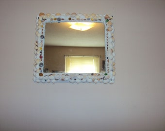 Shell Covered  Mirror 18x15 1/2, 003