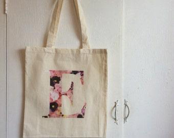 Floral Personalised Canvas Bag