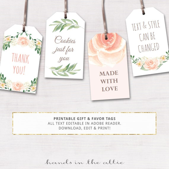 Printable gift tags for spring crafthubs printable baby shower labels editable gift tags by negle Choice Image