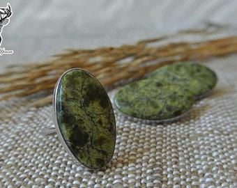 Serpentine set, Serpentine ring, Serpentine earrings