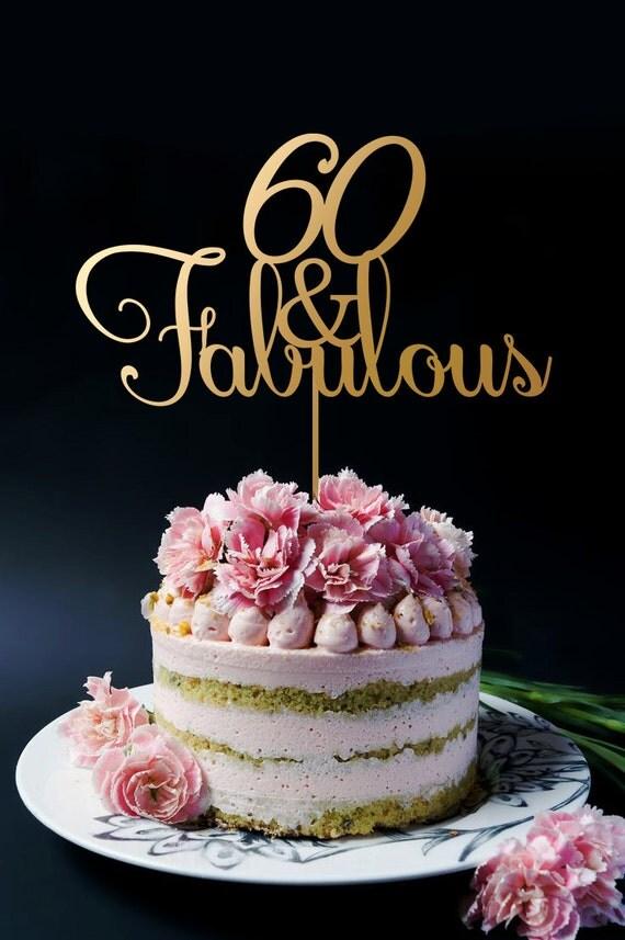 60th Birthday Cake Topper 60th Anniversary Cake Topper 60