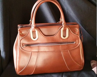 1950s French Vintage Faux Leather Handbag