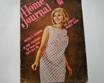 Australian Home Journal Magazine with free patterns - February 1965