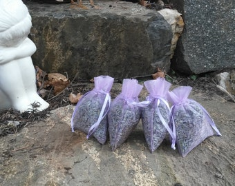 Dried Lavender Sachets - English Lavender - 2016 Fresh Crop - Bulk Deals Available -  Great For Weddings, Home Decor, and Much More!