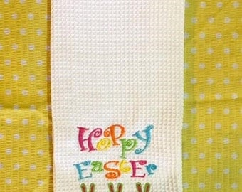 Easter Kitchen Towel - Hoppy Easter