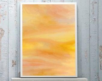 yellow artwork | abstract artwork | bright painting | bright giclee | yellow giclee | yellow painting | bright wall art | yellow wall art