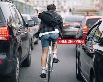 Black Messenger Bag, Laptop Messenger Bag, Shoulder Bag Men, Crossbody Messenger Bag, Bike Messenger Bag, Laptop Bag, Messenger Bag Men