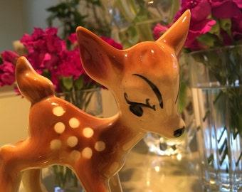 Vintage Ceramic Bambi Planter