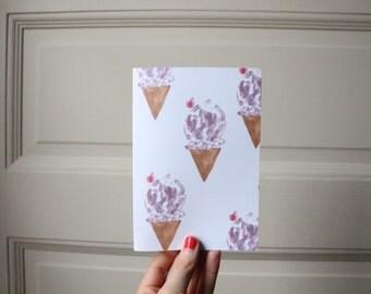 raspberry sorbet card