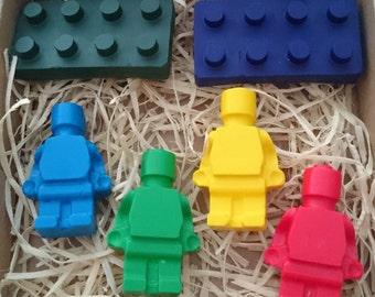 Blocks and bots crayons