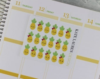 Pineapple Planner Stickers, Pineapple Stickers for Erin Condren Life Planner, Pineapple Stickers, Pineapple