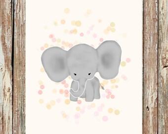 Elephant nursery decor, baby elephant prints, elephant nursery, safari nursery, nursery wall art, nursery wall decor, nursery art