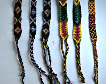 Large friendship bracelets, handmade in Guatemala