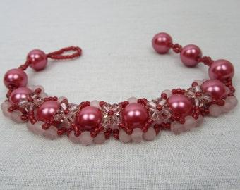 Rose Pink Hugs and Kisses Bracelet