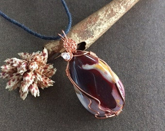 Mookaite and Herkimer Diamond Necklace