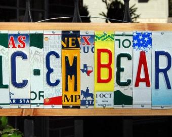 SIC'EM BEARS - Baylor Bears license plate sign