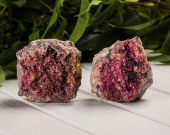Set of 2 ! Cobaltocalcite Crystals Cluster Specimen Set