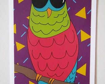Owl Postcard, Owl on the Prowl, Postcard