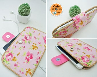 Morning Blossom Smartphone Sleeve, Mobile Phone Pouch, Cellphone Cover, Mobile Phone Case, Traveller Gadget Organizer, Cover Me