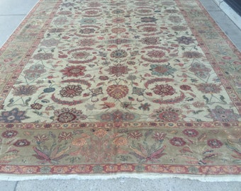 """10'3"""" x 14'6"""" Egyptian Sultanabad Oriental Rug - Hand Made - Vegetable Dye - 100% Wool"""