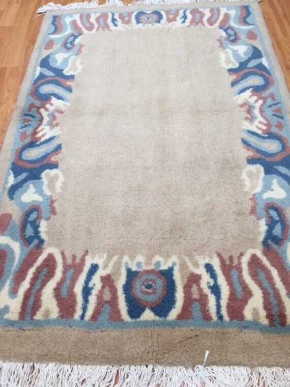 "2'7"" x 4' Persian Kerman Oriental Rug - Hand Made - 100% Wool - Modern"