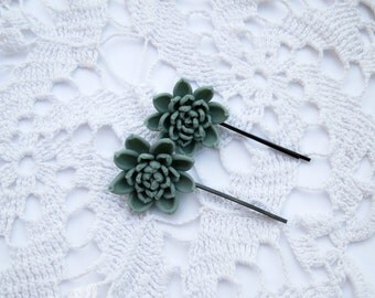 Wedding hair accessory Bridal bobby pin Bridesmaid bobby pin Succulent wedding hair piece flower girl head piece Girl hair accessory Flower