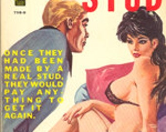 """pulp art print Dial """"S"""" for Stud —  vintage pulp paperback cover repro"""