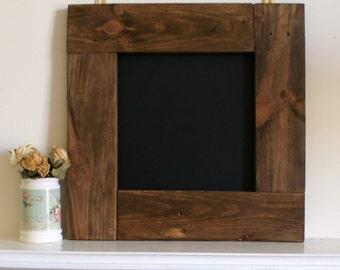 Framed chalkboard.reclaimed wood frame. wood wall art. wood wall hanging.wedding sign.wedding chalkboard.Rustic decor.blackboard. To do list