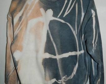 Tie Dye sweatshirt acid wash sweater hipster Retro anarchist symbol jumper punk dip dye Indie Galaxy rave festival men women unisex top