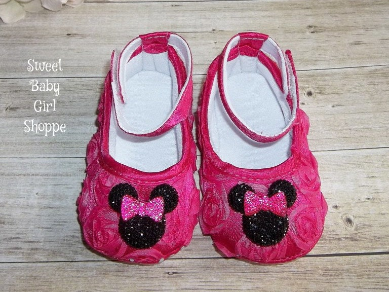 pink minnie shoes for minnie mouse baby by