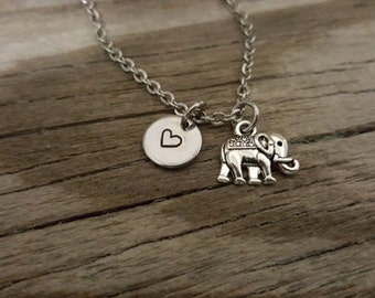 Elephant Necklace - Elephant Gift - Elephant Lover - Animal Lover - I/B/H