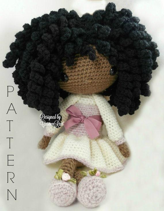 Amigurumi Etsy : Michelle Amigurumi Doll Crochet Pattern by CarmenRent on Etsy