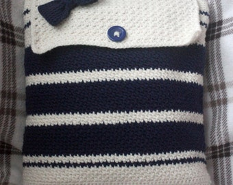 Crochet Backpack with a Nautical Theme