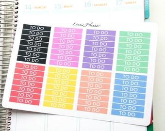 Headers Stickers Functional Basics (56 matte planner stickers, Erin Condren, Happy Planner)