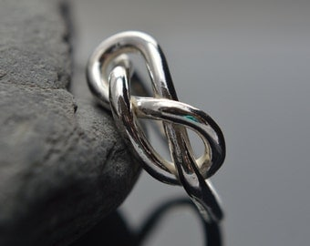 Chunky Silver Infinity Ring, Sterling Silver Infinity Ring, Infinity Ring, Promise Ring, Friendship Ring, 925 Sterling Silver