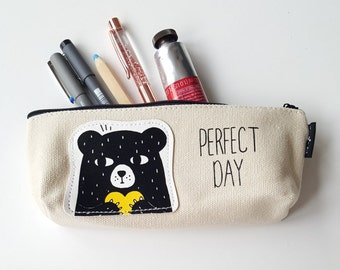 Pencil Case/Zipper Pouch/Makeup Bag/ Back to School Supply/ Christmas gift