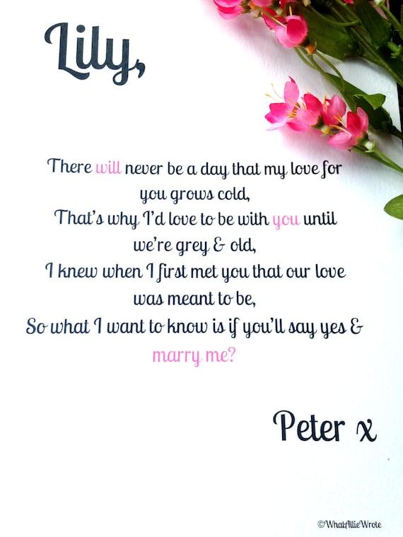 short sweet love poems proposal