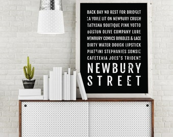 Genial Newbury Street Print, Boston Subway Sign Poster, Boston Wall Art, Décor,  Canvas