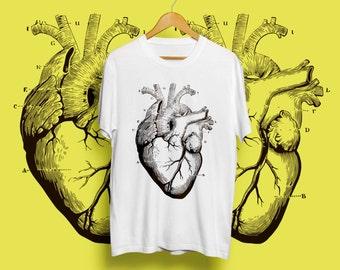Heart Shirt Womens Mens Tshirts Screen Printed T Shirt Husband Gift Girlfriend Boyfriend Gift Graphic Tees Gift for Her for Him 164