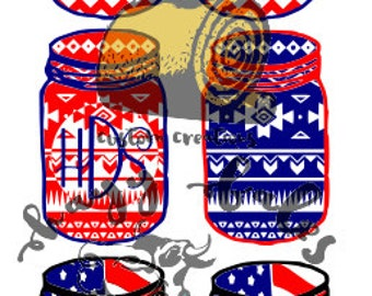 Unique Patriotic Mason Jars Related Items Etsy
