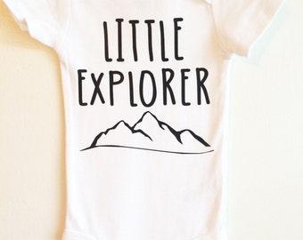 Little Explorer ONESIE ®, Adventure ONESIE ®, Camping onesie®  Baby Bodysuit, Cute Baby ONESIE ®, Baby Gift, Trendy Baby, Hipster Baby