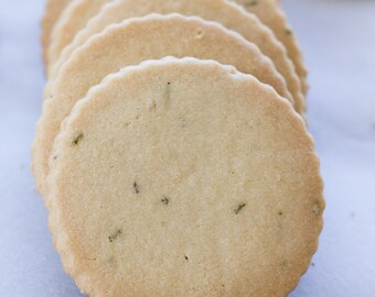 Buttery Rosemary Shortbread Cookies - Two Dozen Cookies