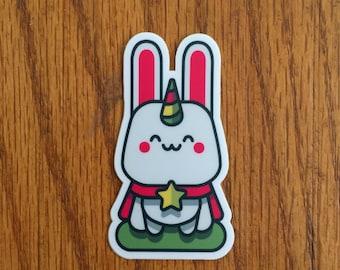 Cute Magical Bunnicorn Sticker  |  Cute Bunny |  Unicorn |  Lucky Rabbit