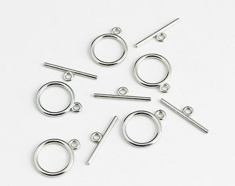 Antique Silver Toggle Clasp - 10 Sets