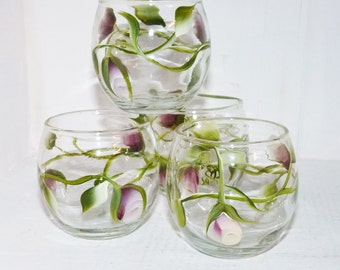 Set of four Handpainted Juice or sipping Glasses - 799