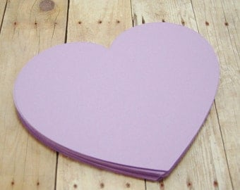 4 inch Paper Heart Cutouts-Purple Cardstock Hearts-Bridal Shower Advice Cards-Wedding Guest Book-Scrapbooking Cutouts-Purple Paper Hearts